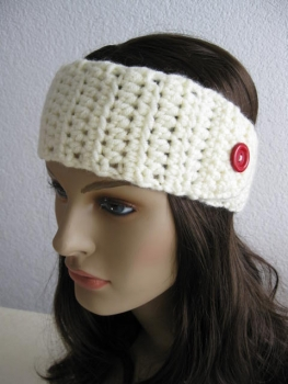 Headband ladies of Wollkopp size L, color: Nature