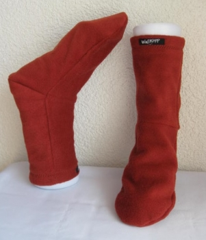 Cuddle socks-dark red