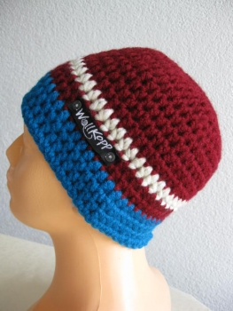 Beanie hat with reflective stripes, 3-colored