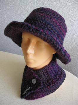 Lady-hat, scarf and headband (lady-set)
