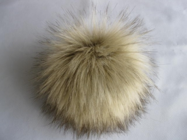 Fakefur bobbles in animal fur look-Wolf with button