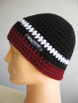 "Beanie man-cap with reflector-yarn, Model ""Lukida"""