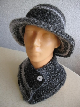 Hat and scarf collar Set