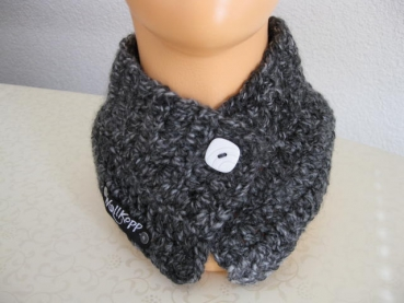Ladies collar-scarf, color: anthracite in the color-course