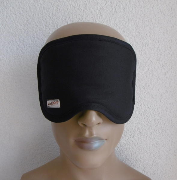 Black sleep goggles