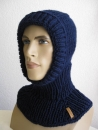 Slip cap scarf hat, ski cap Unisex (long) in solid colors
