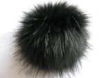 Hat Bobble faux fur arctic fox with button
