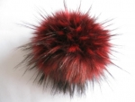 Exchange Bommel from faux fur with pushbutton - raccoon dog 2-color